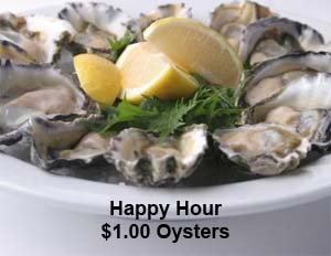 $1.00 Oysters during Happy Hour