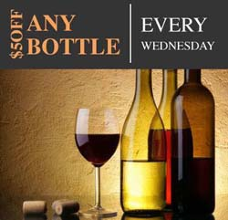 $5 Off Bottles of Wine on Wednesdays